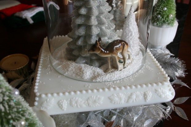 Flea Market and Craft Store Christmas Table Decor